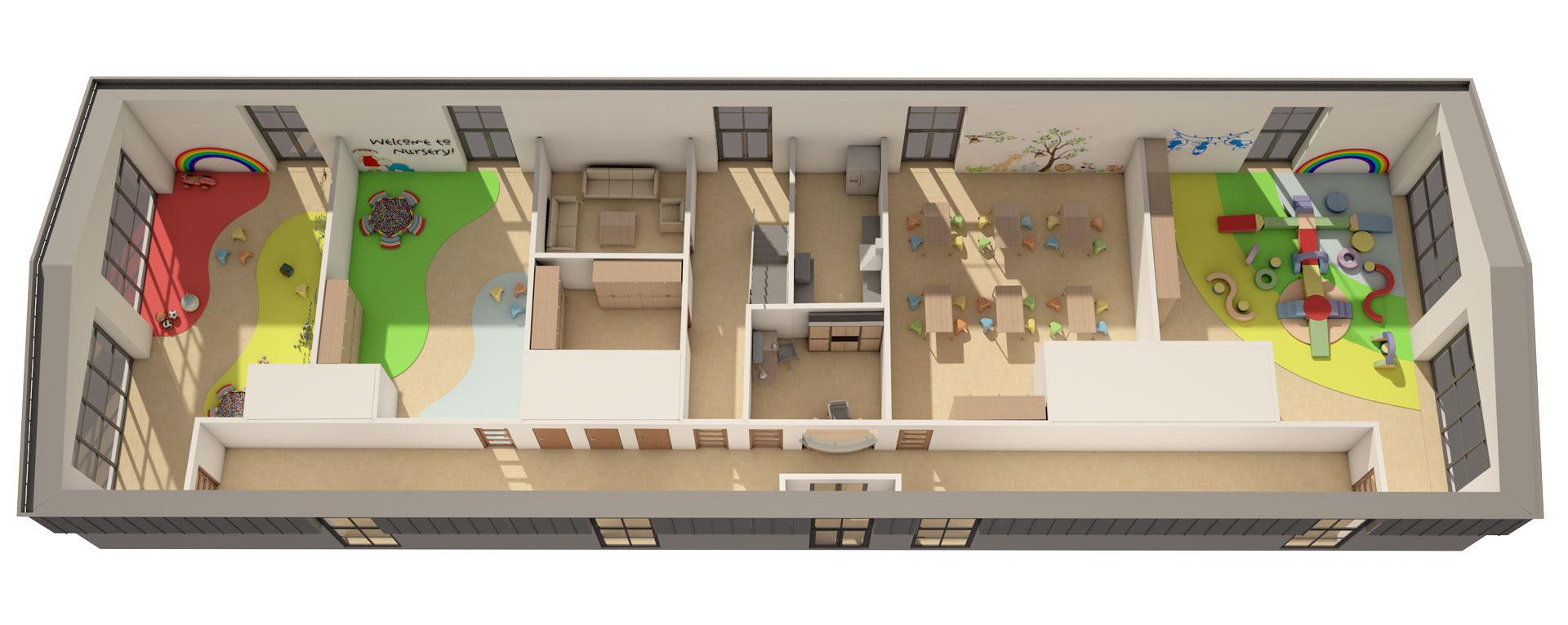 3D Floorplan CGI Imagery Digitail Illustration Interior