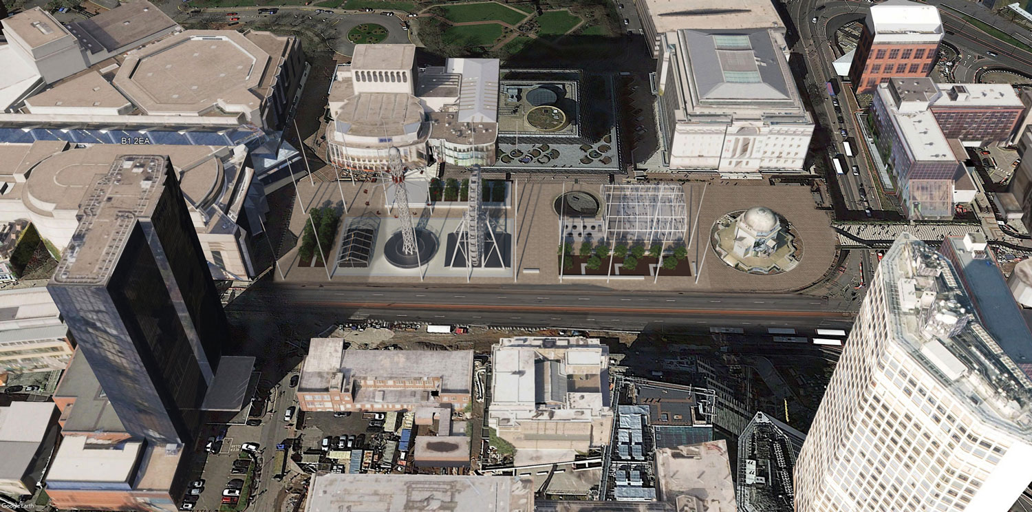 Existing/Proposed – Aerial View 1